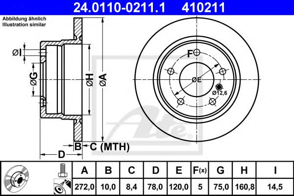 Disc frana ATE 24.0110-0211.1