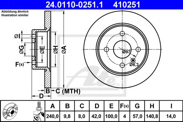 Disc frana ATE 24.0110-0251.1