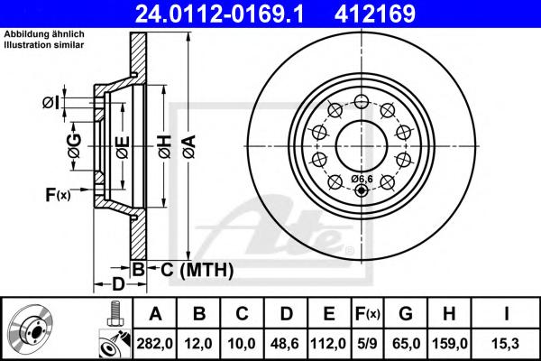 Disc frana ATE 24.0112-0169.1