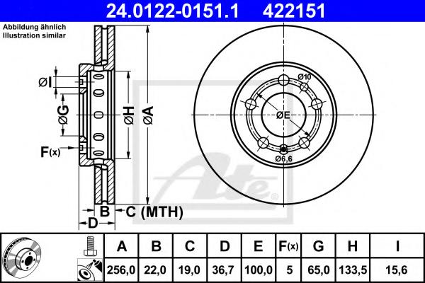 Disc frana ATE 24.0122-0151.1