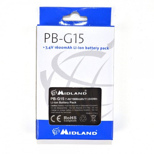 Acumulator Midland PB-G15 Li-Ion 1600 mAh pentru Statie G15 / G18 Cod C1128