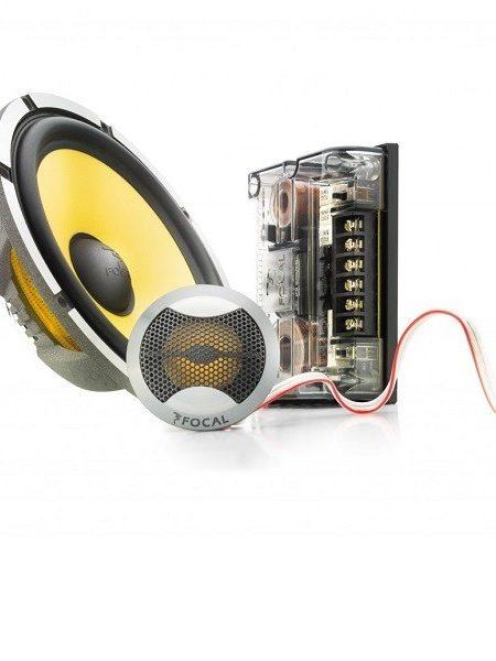 Boxe auto componente Focal 165KRXS, sistem slim, 2 cai, 120W, 60W RMS 16.5 cm, set 2 difuzoare