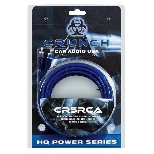 Cablu RCA stereo dublu ecranat + remote Crunch CR5RCA, 5m