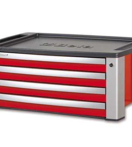 Cutie de scule cu 4 sertare portabila pentru C39, rosu BETA C39 T-R