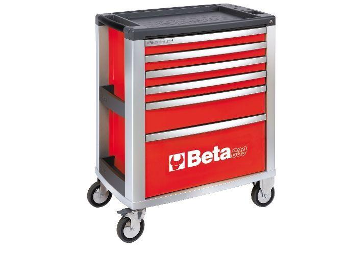 Dulap mobil cu 6 sertare din aluminiu, gri BETA C39 G/6