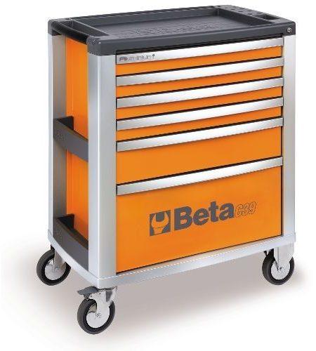 Dulap mobil cu 6 sertare din aluminiu, orange BETA C39 O/6