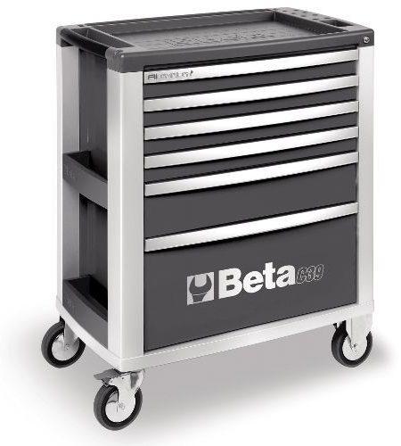 Dulap mobil cu 6 sertare din aluminiu, rosu BETA C39 R/6