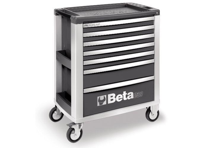 Dulap mobil cu 7 sertare din aluminiu, gri BETA C39 G