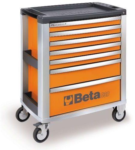 Dulap mobil cu 7 sertare din aluminiu, orange BETA C39 O