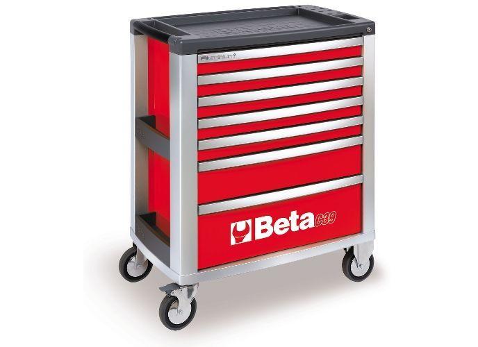 Dulap mobil cu 7 sertare din aluminiu, rosu BETA C39 R