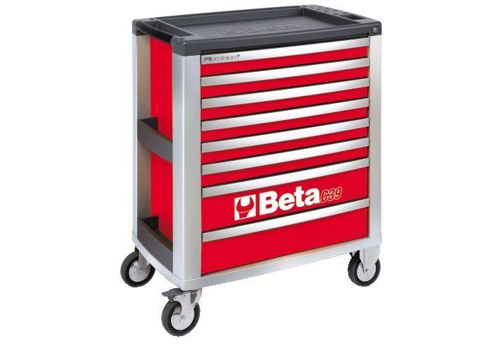 Dulap mobil cu 8 sertare din aluminiu, gri BETA C39 G/8