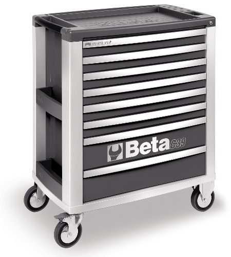 Dulap mobil cu 8 sertare din aluminiu, rosu BETA C39 R/8