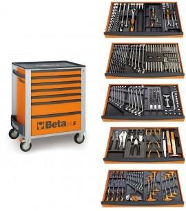 Dulap mobil cu 8 sertare si 260 scule pentru mecanica Beta