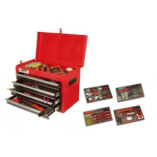 Dulap scule cu 4 sertare si 155 piese - MANNESMANN - M28261