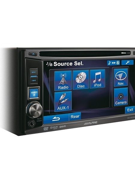 DVD player Alpine IVE-W530E, 4 X 50 W , 2 DIN , CD/DVD, Aux,USB,Ipod/Iphone, Bluetooh