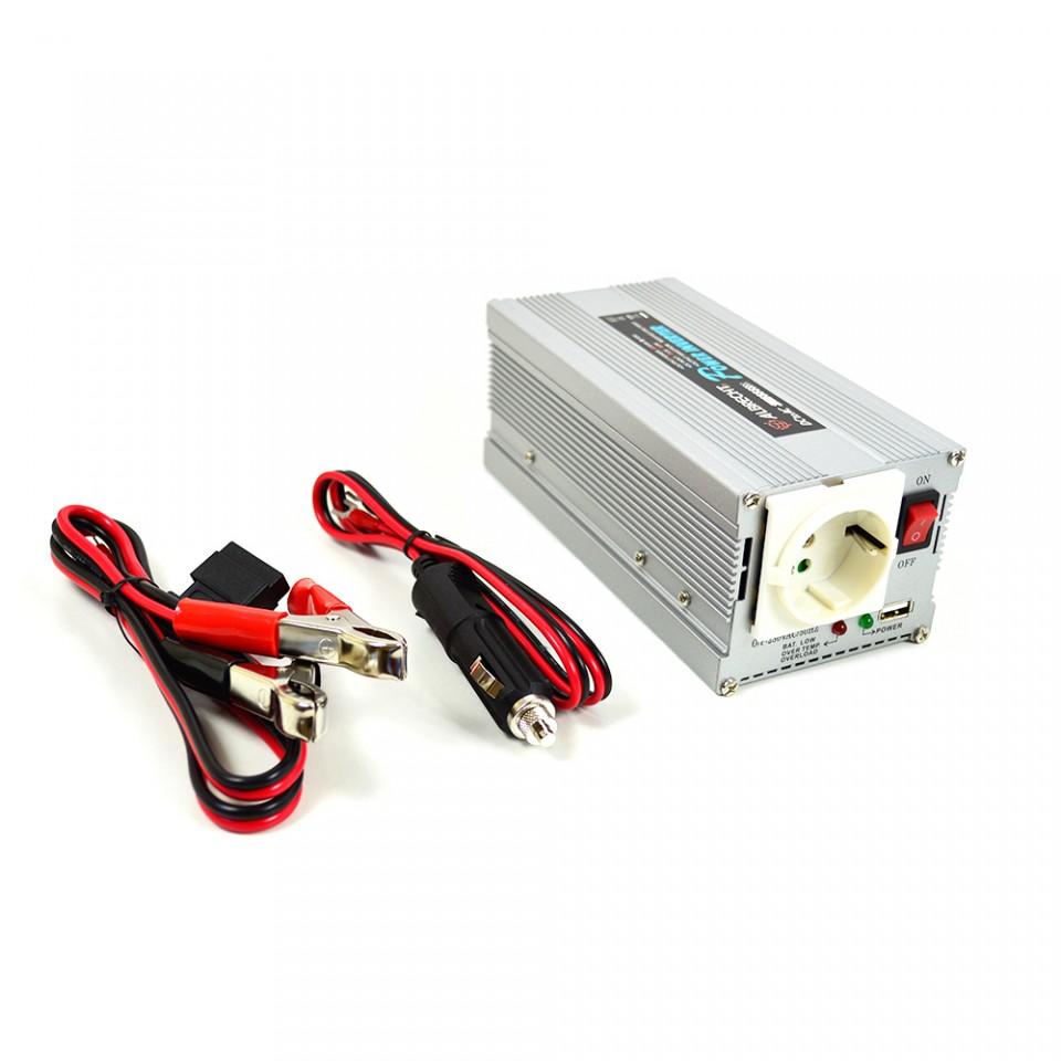 Invertor tensiune Albrecht 300W 12V/24V cu mufa USB Cod 47874