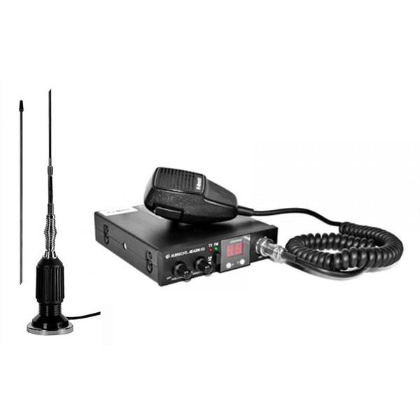Kit Statie radio auto CB Albrecht 4200 EU RO ASQ + Antena CB Albrecht 95-800
