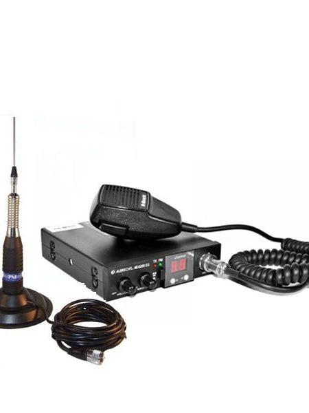 Kit Statie radio auto CB Albrecht 4200 EU RO ASQ + Antena PNI ML160 + baza magnetica