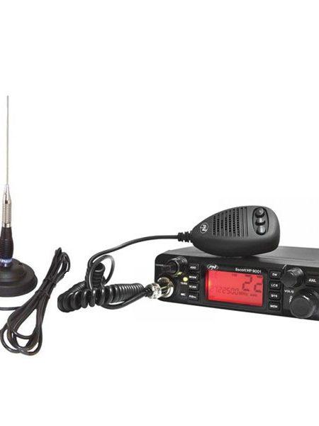 Kit Statie radio auto CB PNI ESCORT HP 9001 ASQ + Antena CB PNI ML100 + baza magnetica