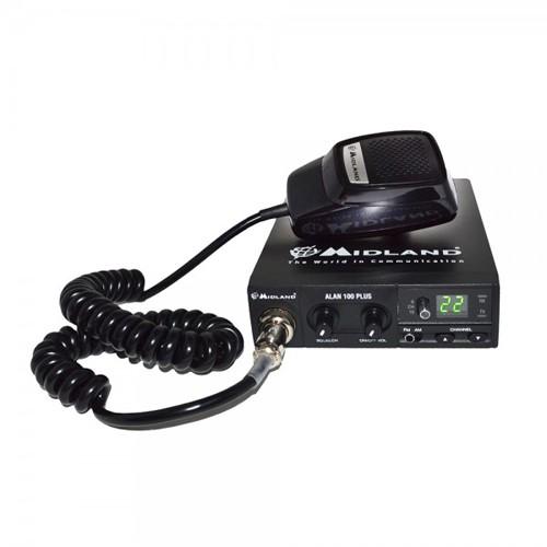Kit Statie radio CB Midland Alan 100 + Antena Funk 90 + Baza magnetica 120/dv