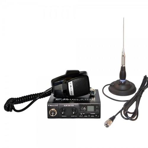Kit Statie radio CB Midland Alan 100 + Antena Picco 70C + Baza magnetica 120/dv