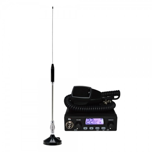 Kit Statie radio CB TTi TCB-1000 + Antena CB Midland 18-244M