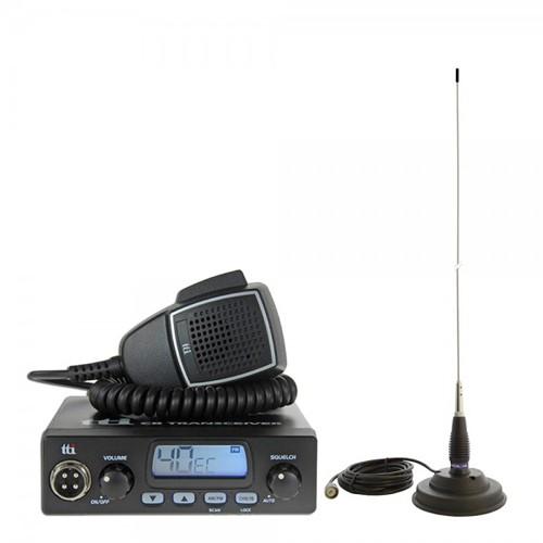 Kit Statie radio CB TTi TCB-550 + Antena PNI ML145 cu magnet