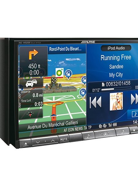 "Multimedia auto Alpine INE-W928R, 2DIN, DVD, Bluetooth, USB, AUX, Ecran 8"",  4 x 50W RMS, iPod/iPhone, Harta Full Europa"