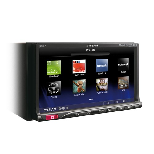 "Multimedia player auto Alpine ICS-X7, 2DIN, diagonala 7"",  Bluetooth, USB,"