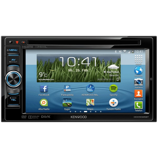 Multimedia player auto Kenwood DDX-5025BT, 2DIN, USB, AUX, Bluetooth, DVD, iPod/iPhone, 4x50W RMS, ecran 6.1""