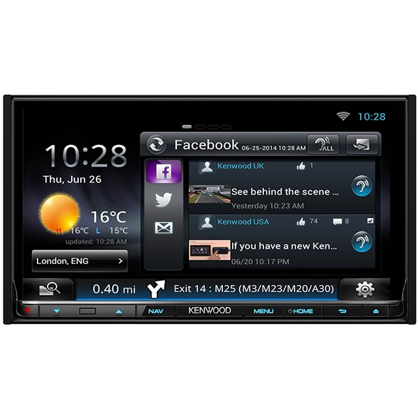 Multimedia player auto Kenwood DNN-9250DAB, 2DIN, USB , AUX, SD, WiFi, Bluetooth, 4x50W RMS, Touchscreen, ecran 7""