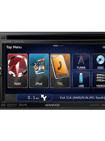 Multimedia player auto Kenwood DNX-4250BT, 2DIN, USB, AUX, SD, Bluetooth, iPod/iPhone, CD, 4x50W RMS, ecarn 6.1""