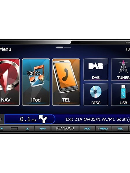 Multimedia player auto Kenwood DNX-7250DAB, 2DIN, USB, AUX, SD, Bluetooth, iPod/iPhone, 4x50W RMS, Touchscreen, ecran 7""