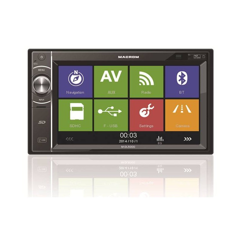 Multimedia player auto Macrom M-DL5000, Bluetooth, GPS,  SD