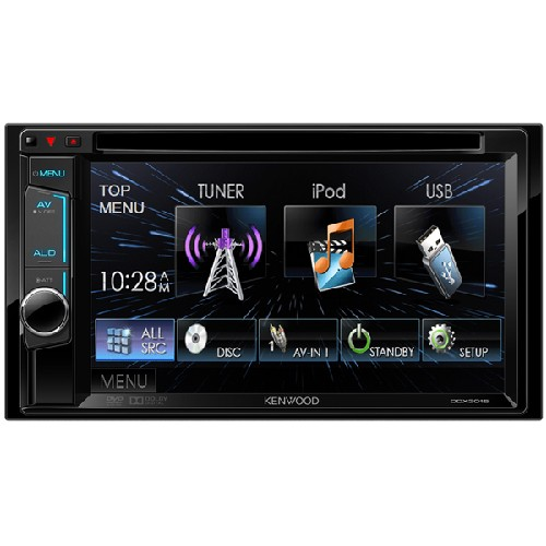 Multimedia player Kenwood DDX-3015, USB, iPod, 4x50W, ecran 6.2""