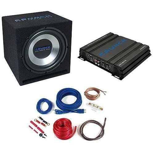 Pachet bass Crunch CBP500: Subwoofer GPX 350+Amplificator GPX 500.2+ Kit instalare GPX 10WK
