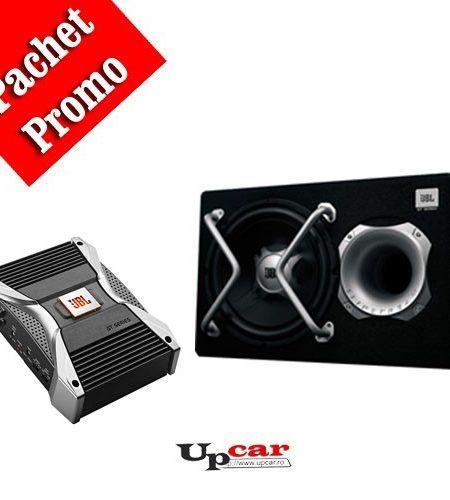 Pachet Bass JBL GT5-1204BR + GT5-A402 ,  Subwoofer  GT5-1204BR + Amplificator auto, 2 canale, GT5-A402