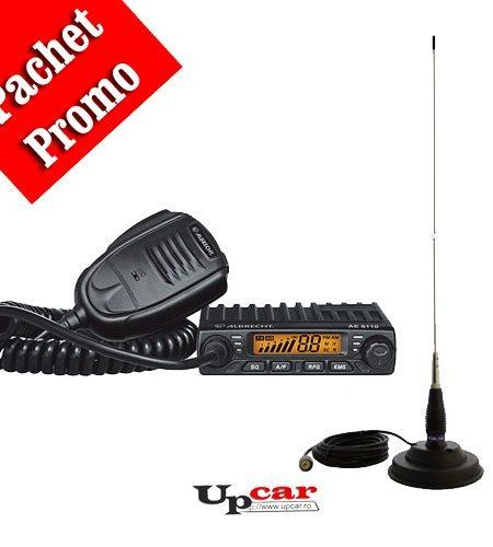 Pachet statie radio auto Albrecht 6110 + Antena PNI ml145 lungime 145 cm + Baza magnetica