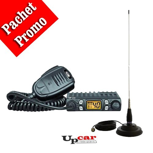 Pachet statie radio auto CB CRT One +  Antena CB PNI ML145 lungime 145cm + Baza magnetica
