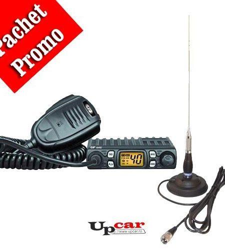 Pachet statie radio auto CB CRT One + Antena CB PNI ML160 lungime 145cm + Baza magnetica