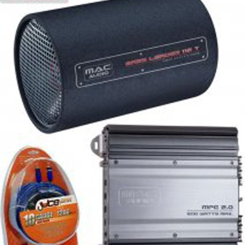 Pachet subwoofer Mac Audio Bass Leader Tube Pack, 300 W RMS