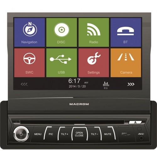 Player auto 1DIN Macrom M-DVD 6560, 4x45W, Bluetooth, USB, navigatie IGO Primo