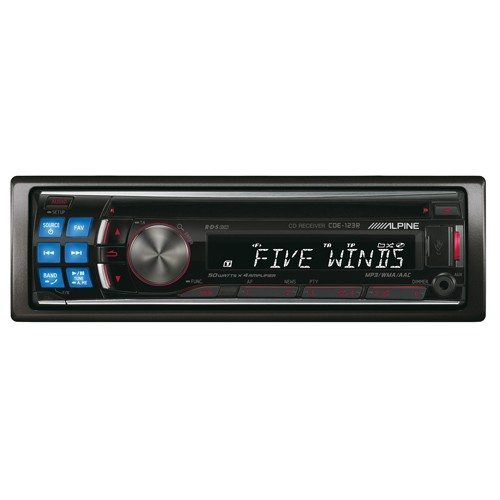 Player auto Alpine CDE-123R, USB, Bluetooth, CD, iPod/iPhone