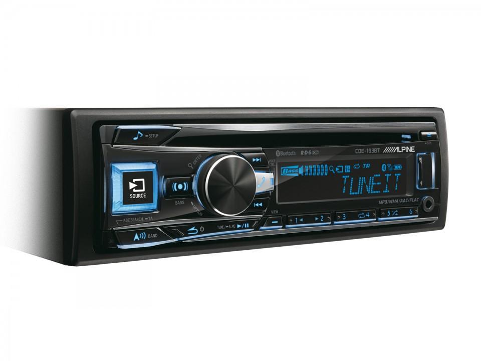 Player auto Alpine CDE-193BT, 4x50W, USB, AUX, CD, Bluetooth, iPod/iPhone, Panou frontal detasabil