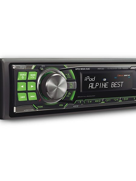 Player auto Alpine CDE-9880R, 4x50W, USB, AUX, CD, Bluetooth, iPod/iPhone, Panou frontal detasabil