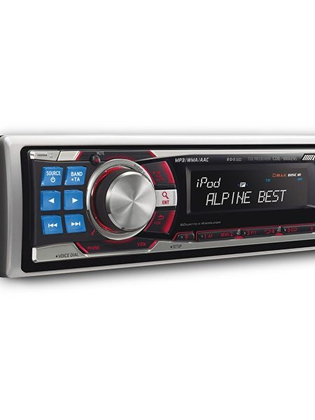 Player auto Alpine CDE-9882RI, 4x50W, USB, AUX, CD, Bluetooth, iPod/iPhone, Panou frontal detasabil
