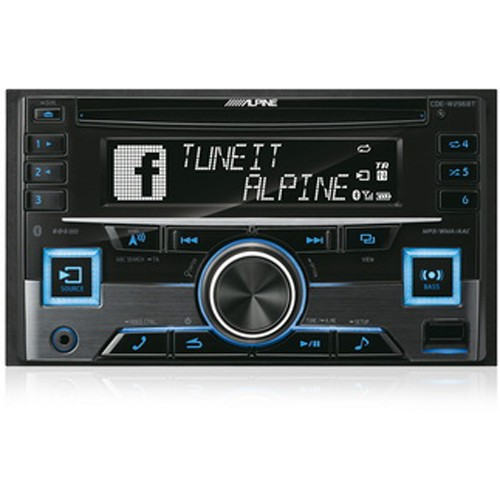 Player auto Alpine CDE-W296BT, 2DIN, USB, AUX, CD, Radio, iPod/iPhone, 4x50W