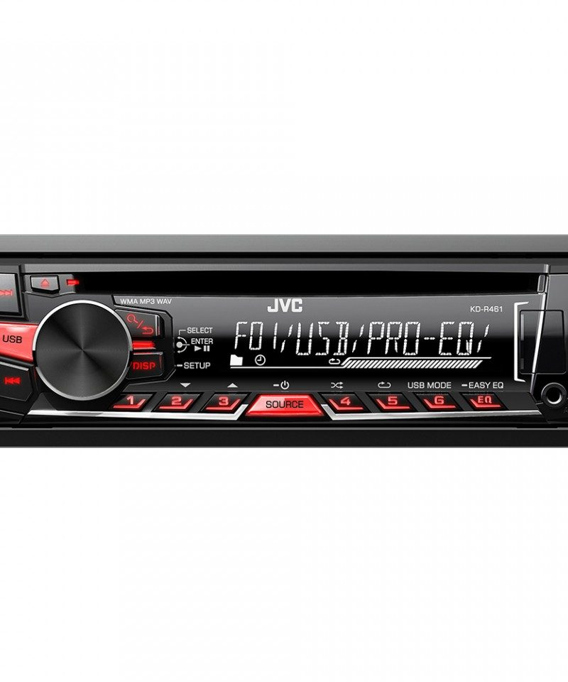Player auto JVC KD-R461EY , CD, MP3, USB, AUX, 4x50W