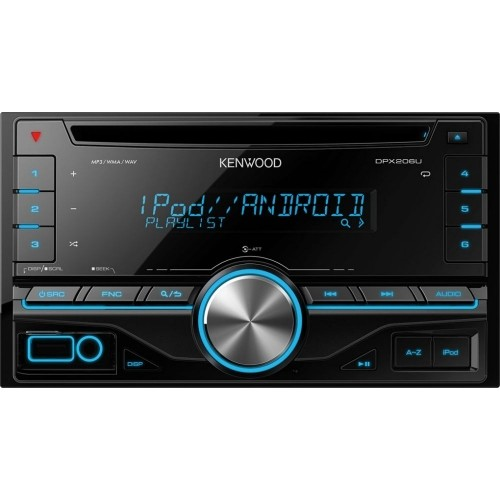Player auto Kenwood DPX-206U, 2DIN, USB, AUX, 4x50W