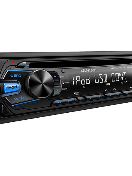 Player  auto Kenwood KDC-261UB, 4x50W, USB, AUX, CD, iPod/iPhone, Panou frontal detasabil